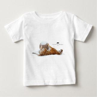 冬Lilly -トラ ベビーTシャツ