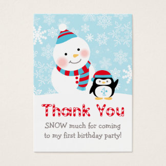 冬ONEderland |はメッセージカード感謝していしています 名刺