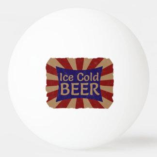 冷えたビールピンポン球 卓球ボール