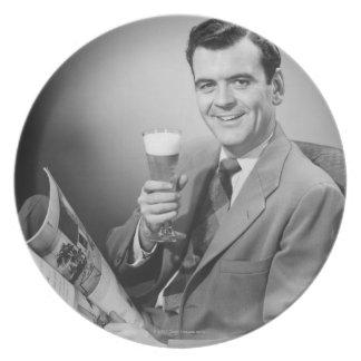 冷えたビール プレート