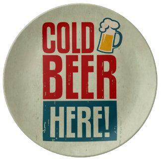 冷えたビール 磁器プレート