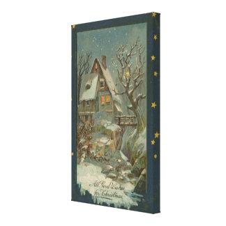 冷たいクリスマスの夜 キャンバスプリント