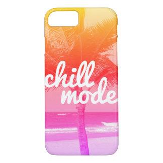 冷たいモードピンク及びオレンジビーチ場面iPhone 7の箱 iPhone 8/7ケース