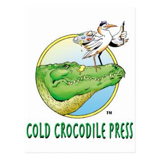冷たいワニの出版物のロゴ ポストカード