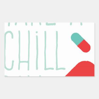 冷たい丸薬を取って下さい 長方形シール