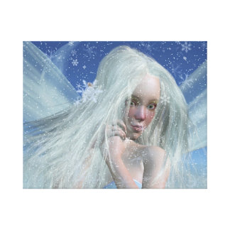 冷たい冬の妖精のポートレート キャンバスプリント