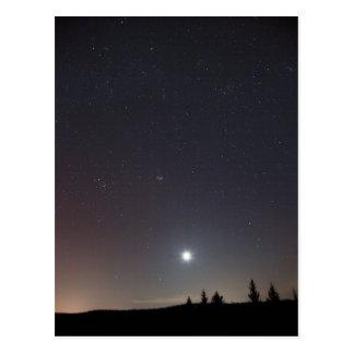 冷たい冬夜の星 ポストカード