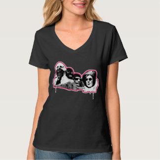 冷たい刺客(女性ピンクライン) Tシャツ