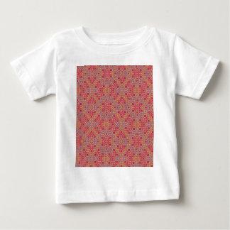 冷たい日の赤く、暖かい光学生地パターン ベビーTシャツ