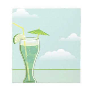 冷たい飲みもののベクトル ノートパッド