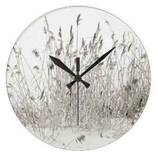 冷ややかなわら ラージ壁時計