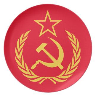 冷戦の共産主義の旗のメラミンプレート プレート