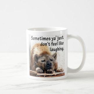 冷静なハイエナのマグ コーヒーマグカップ