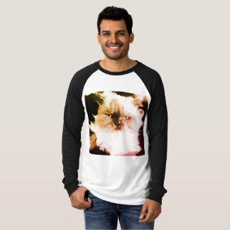 冷静な猫のTシャツ Tシャツ