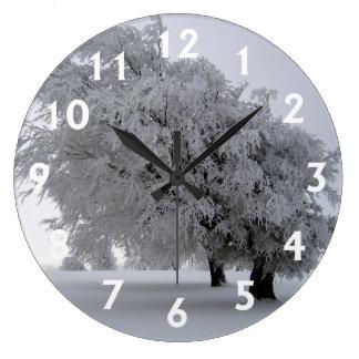 凍っていられている ラージ壁時計