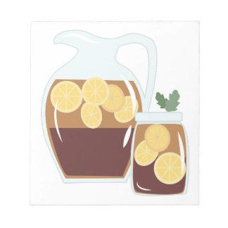 凍らされた茶 ノートパッド