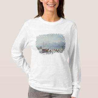 凍結する冬場面 Tシャツ