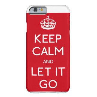 凍結する平静を保ち、場合IPhoneの行くようにして下さい Barely There iPhone 6 ケース