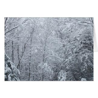 凍結する木ブランクカード カード