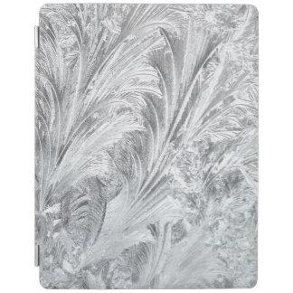 凍結する氷の縁の水晶シダの滝の冬 iPadスマートカバー
