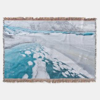 凍結する氷河氷、アイスランド スローブランケット