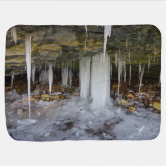 凍結する洞窟 ベビー ブランケット