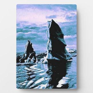 凍結する海岸 フォトプラーク