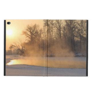 凍結する湖による冬の夕べ POWIS iPad AIR 2 ケース
