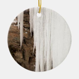 凍結する滝 セラミックオーナメント