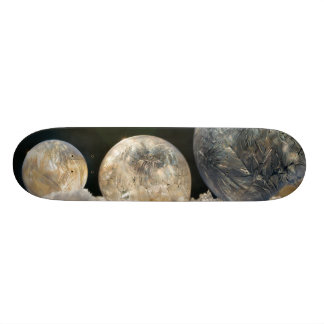 凍結する石鹸の泡の氷晶のカッコいいの冬の写真 スケートボードデッキ