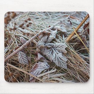 凍結する葉のマウスパッド マウスパッド