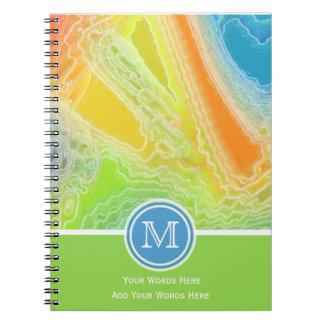 凍結する虹のモノグラムのノート2 ノートブック
