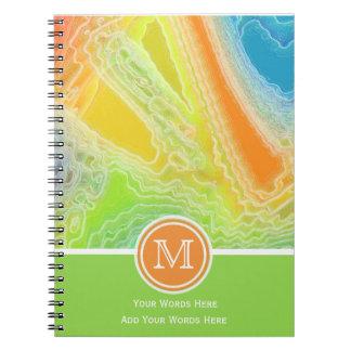 凍結する虹のモノグラムのノート3 ノートブック