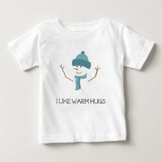 凍結する-私は暖かい抱擁を好みます ベビーTシャツ