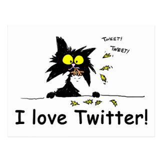 凝灰岩の子猫はTwitterを愛します ポストカード