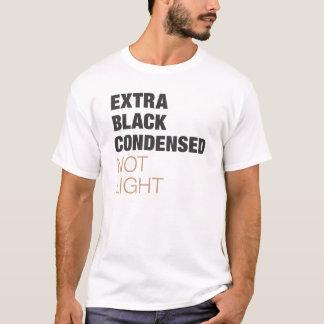 凝縮する余分に黒 Tシャツ
