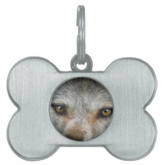 凝視のオオカミは野性生物の芸術を注目します ペットネームタグ