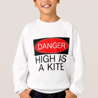 凧のおもしろいな安全Tシャツのマグとして高い危険- スウェットシャツ