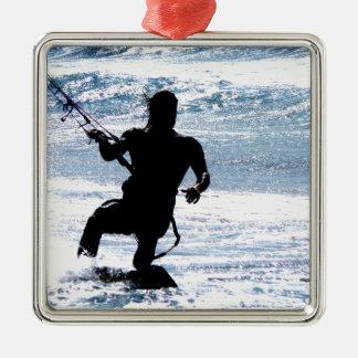 凧のサーフィン メタルオーナメント