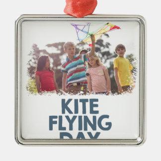凧の飛んでいるな日-感謝日 メタルオーナメント