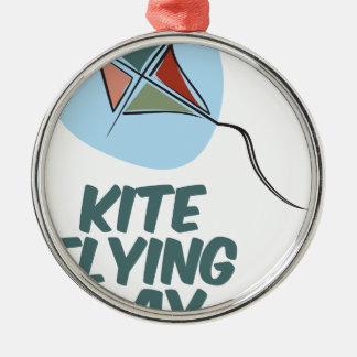 凧の飛んでいるな日- 2月8日 メタルオーナメント
