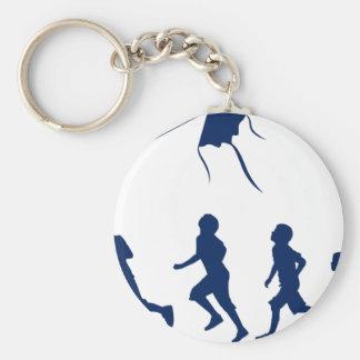 凧を飛ばしている子供 キーホルダー