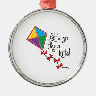 凧行くために割り当てますはえ メタルオーナメント