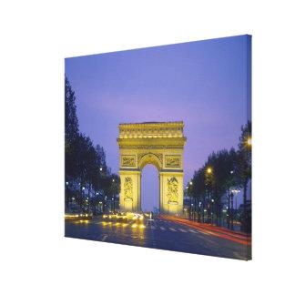 凱旋門、パリ、フランス、 キャンバスプリント