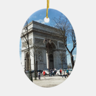 凱旋門、パリ、フランス セラミックオーナメント