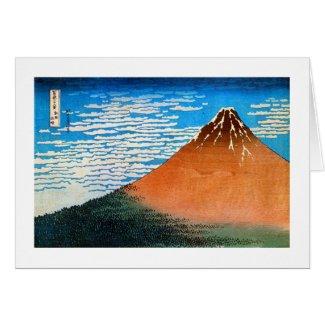 凱風快晴の(の赤富士の)、北斎赤い富士山、Hokusai、Ukiyo-e