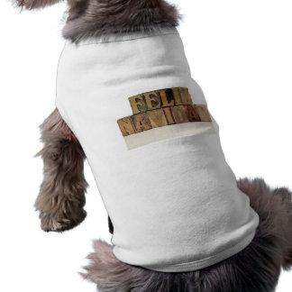 凸版印刷の木製のタイプペットワイシャツのfelizのnavidad ペット服