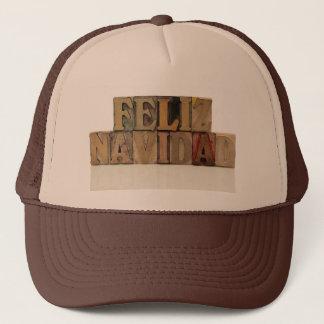 凸版印刷の木製のタイプ帽子のfelizのnavidad キャップ