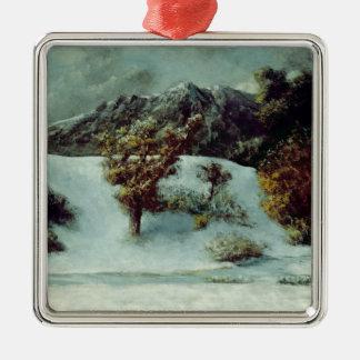 凹みDUミディ1876年との冬の景色 メタルオーナメント