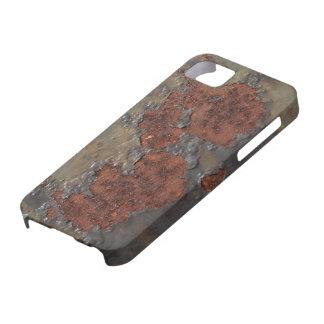 凹む模造のな錆の質(茶色の薄片状の錆つかせた鉄) iPhone SE/5/5s ケース